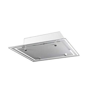 Lustre Plafon Para Sala/Cozinha/Banheiro/Quarto 30 cm x 30 cm - Branco