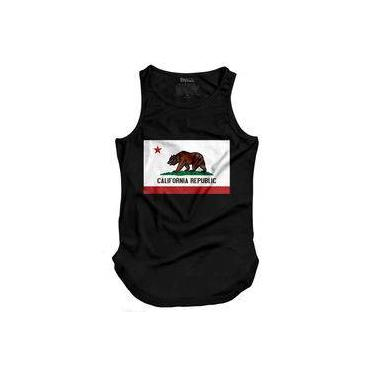39c6b9da2 Camiseta Masculina Regata Longline California Rep.