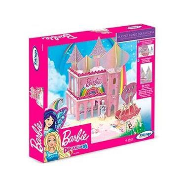 Imagem de Casinha de Madeira Playset Barbie Reino Dreamtopia 70 Peças Xalingo