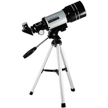 FCYQBF Telescópio astronômico, telescópio refletor adulto profissional, telescópio refrator de 70 mm para iniciantes, crianças, ocular K20/k6