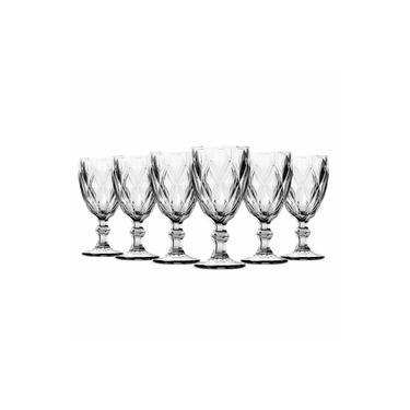 Jogo De 6 Taças Vinho Diamante Clear 210ml Class Home
