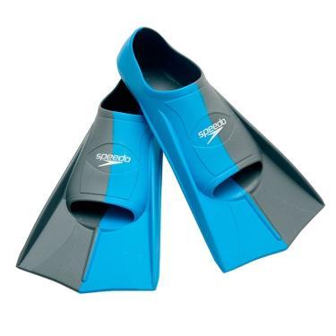 Nadadeira Dual Training Fin Speedo - Azul - 34/35