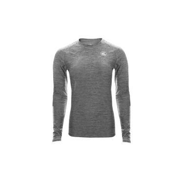 Camisa Térmica Esporte Legal Luar Manga Longa Feminina - Cinza e Preto