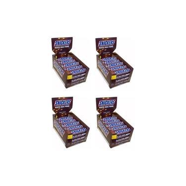 CHOCOLATE SNICKERS 45g KIT C/ 4 CAIXAS DE 20 UNIDADES - MARS
