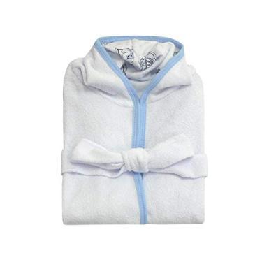 Roupão de Banho Infantil com Capuz - Georgea Azul