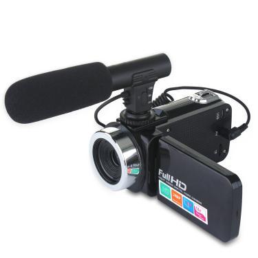 DC888 24MP HD Filmadora Câmera de vídeo com zoom digital 18x para Youtube Live Vlog Night Vision 3 polegadas LCD Câmera Banggood