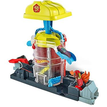 Imagem de Pista Super Quartel dos Bombeiros City vs. Toxic Creatures Hot Wheels Mattel