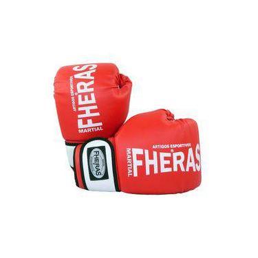 aff774f8fe Kit Boxe Muay Thai Orion Luva Bandagem Bucal 12 OZ - Vermelho Branco