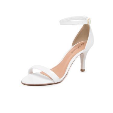 6eab448832 Sandália DAFITI SHOES Salto Fino Alto Branca Dafiti Shoes 5097-50708  feminino