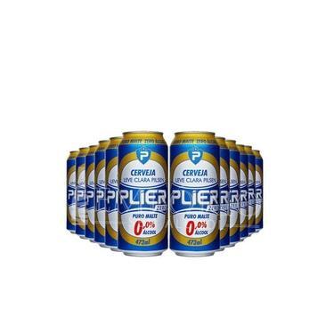 Cerveja sem álcool Pielsen Zero - Plier - Lata 473ml - Nacional - 12 ud