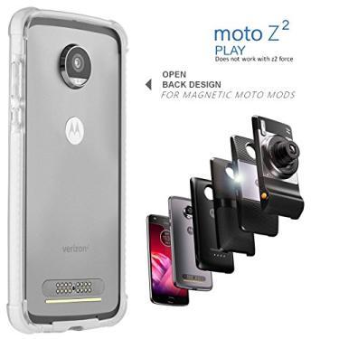 Capa para celular Moto Z2 Play – compatível com Mod (não funciona com outros modelos Moto Z2 Force, Moto Z, Z Force e Z Play 1st gen), Branco