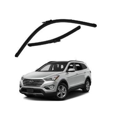 Kit Palhetas Limpador de Parabrisa Dianteiro Hyundai Santa Fé Ano 2014 - Atual