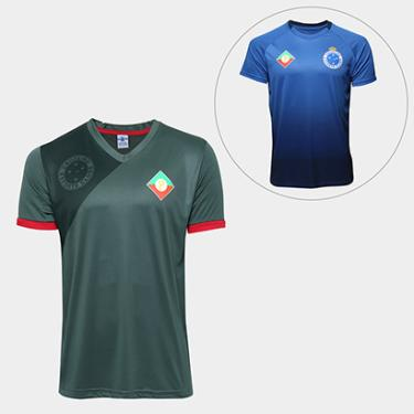 Kit Camisa Retrô Cruzeiro Palestra Itália + Camisa Retrô Cruzeiro s nº  Masculina - Masculino 4a0ee6aae7713