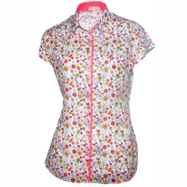 Camisa Pimenta Rosada Eugénie Floral - Feminino 70527fb8779