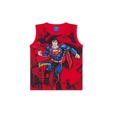 Regata Infantil Masculino Superman Vermelho - Marlan