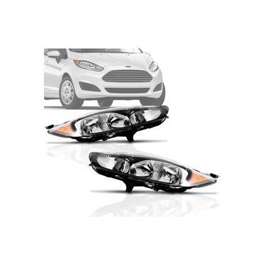 Par Farol Ford New Fiesta 2013 2014 2015 2016 Mascara Negra