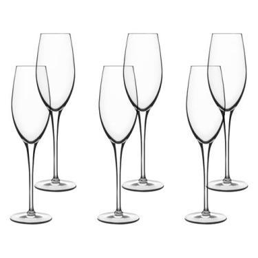 Jogo de Taças para Champagne Vidro 210ml - 6 Peças Luigi Bormioli Roya