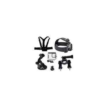 Imagem de Kit P Gopro Hero 9 Black Caixa Estanque Ventosa Guidao Peito