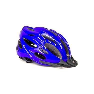 Capacete para Bike Mtb Led Traseiro Tamanho M 54/57 cm Azul Nero Absolute