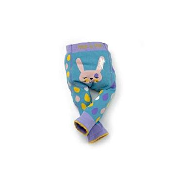 Meia Calça Legging Infantil Coelhinho 3-4 anos, Blade and Rose, Azul