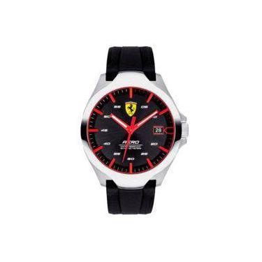 28105f2b371 Relógio Scuderia Ferrari Masculino Borracha Preta - 830506