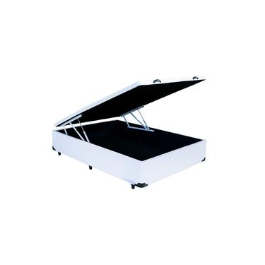 Cama Box Baú Casal Branca 1,38 X 1,88