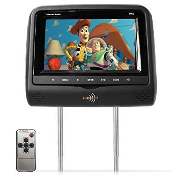 Encosto de Cabeça Kx3 Tela LCD 7 Tipo Escravo Com Controle Preto