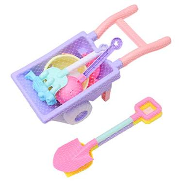 Imagem de TOYANDONA 9Pcs Balde E Pá Praia Conjunto Crianças Carrinho de Brinquedos de Praia Brinquedos De Areia de Praia Brinquedos para Crianças