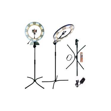 Iluminador Ring Light Led Pro 41cm Com Tripé Reclinável