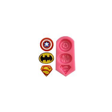 Beleza Equipe Superman Batman Fondant bolo de chocolate Decoratio