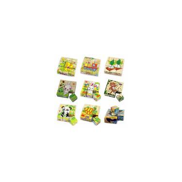 Imagem de Quente!!! 3D quebra-cabeça de madeira blocos cubo quebra-cabeça animais educação aprendizagem bebê crianças brinquedo presente de natal para crianças