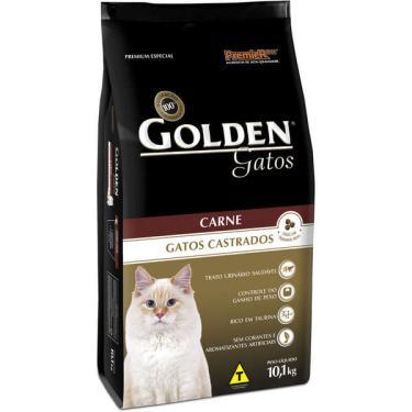 Ração Seca PremieR Pet Golden Carne para Gatos Castrados - 10,1 Kg