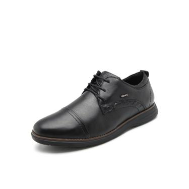 Sapato Couro Ferracini Liso Preto Ferracini 6120-559L masculino