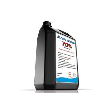 Alcool 70 liquido 5 litros - Braclean