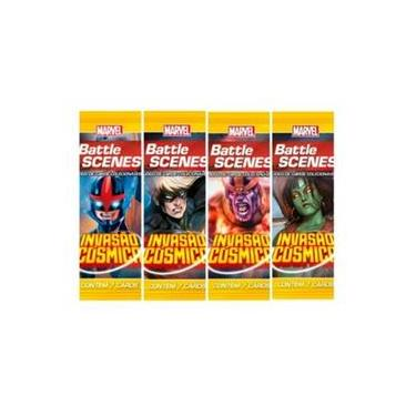 Pack de cartas Marvel Battle Scenes: Invasão Cósmica em português