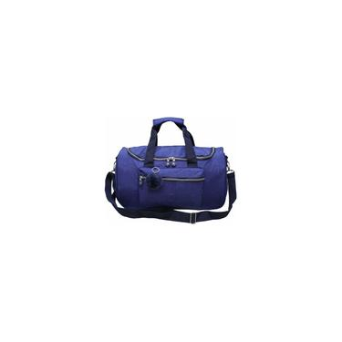 Imagem de Bolsa de Viagem Grande com Bolso e Pompom Azul Cruzeiro