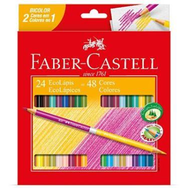 3ff394b4ef Lápis de Cor 48 cores redondo (24 bicolor)120624G Faber Castell