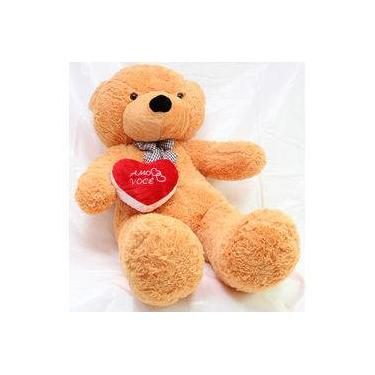Imagem de Urso de Pelúcia Ursinho Gigante de 1,4 metros + Coração Love