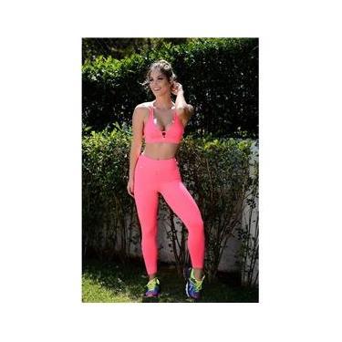 Conjunto Fitness com Legging Corsário