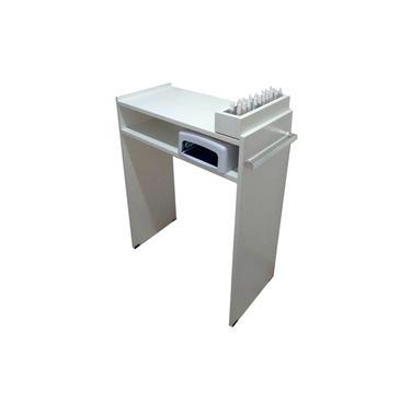 Mesa P/Manicure C/ prateleira p/ estufa C/Alças cromadas+compartimento