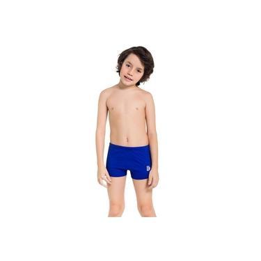 Sunga Boxer Infantil Veggi Lisa Azul