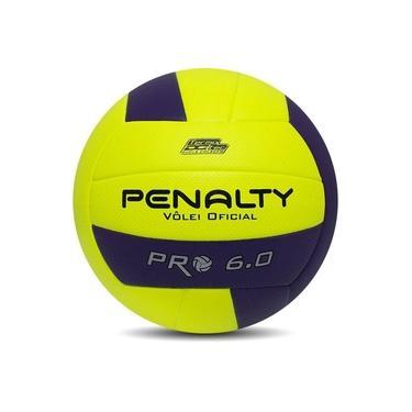 Bola de Volei Penalty PRO 6.0 X Amarelo e Roxo Penalty