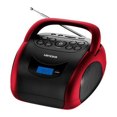 Rádio Portátil Lenoxx BD-150 Boombox 4W de potência rms, Bluetooth, Display Digital, Rádio FM e Função MP3