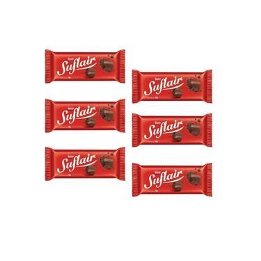 Chocolate Suflair Ao Leite Nestlé 50Gr - Kit 06 Barras