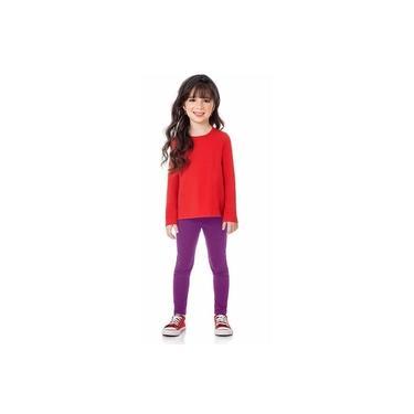 Calça Infantil Menina Legging Básica Roxa