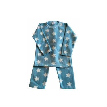 Pijama Infantil Soft Estampado Menino Estrela Azul