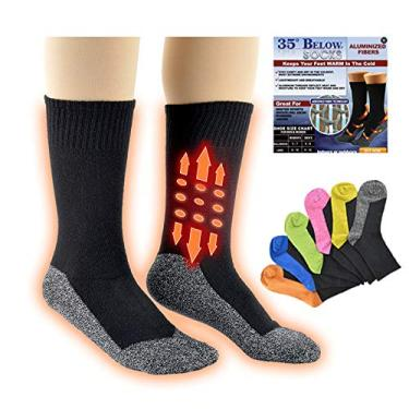 COLTD Meias de aquecimento constante de 35 °C meias de compressão para esportes ao ar livre meias de inverno, Pacote de saco Opp, M