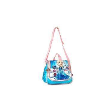Lancheira Infantil Menina Flora Frozen Clio FL8095L - Azul