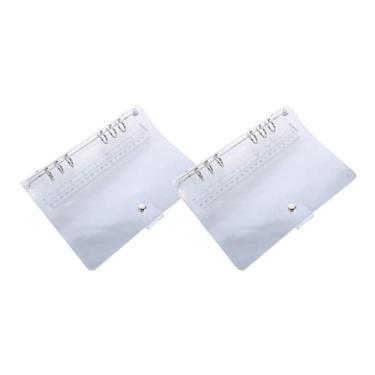 NUOBESTY Capa transparente para caderno, 2 peças, capa para fichário de PVC, fecho de botão de pressão padrão A5