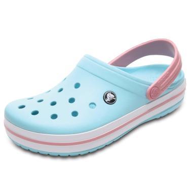 Sandália Crocs Crocband Clog Kids Azul/Rosa  unissex